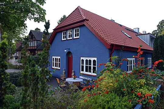 Blaue Häuser reiseziele worpswede